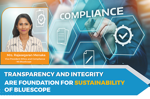 Transparency And Integrity Are Foundation For Sustainability Of BlueScope